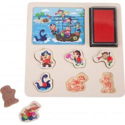 Legler Kalózos pecsét és puzzle  4344A