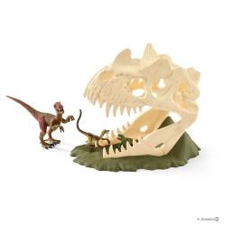 Schleich 42348 sada veľká lebka s Velociraptorom
