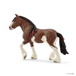 Schleich 13809 domáce zvieratko Clydesdalský kôň kobyla