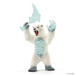 Schleich 42510 bojová bytosť snežný medveď so zbraňou