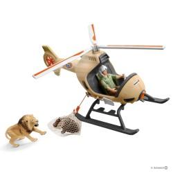 Schleich 42476 helikoptéra pre záchranu zvierat