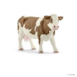 Schleich 13801 domáce zvieratko Simentálska krava