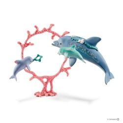 Schleich 41463 set delfín mamička s mláďaťom