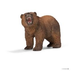 Schleich 14685 divoké zvieratko medveď hnedý grizzly samec