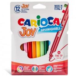 CARIOCA farebné umývateľné fixky tenké 12 ks