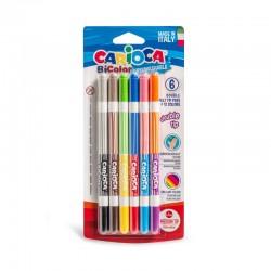 CARIOCA farebné umývateľné fixky obojstranné 6ks/12 farieb