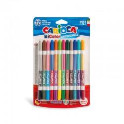 CARIOCA farebné umývateľné fixky obojstranné 12 ks/24 farieb