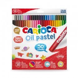 CARIOCA farebné olejové pastelky 50 kusov