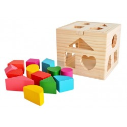 ISO 9366 Drevená krabička na vkladanie tvarov