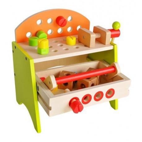 ISO 9421 Detský pracovný stôl z dreva s náradím
