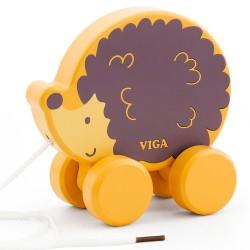 VIGA PolarB drevená hračka na ťahanie - ježko