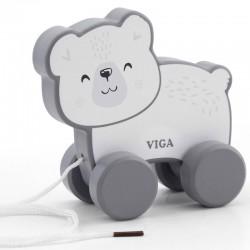VIGA PolarB drevená hračka na ťahanie - macko