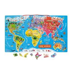 JANOD Magnetická mapa sveta - anglická