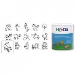 HEYDA Detské pečiatky - 15 kusové - Farma
