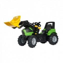Rolly Toys Detský šlapací traktor FarmTrac Deutz-Fahr Agroton 7250 s lyžicou