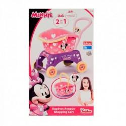 BILDO Disney Minnie Mouse detský nákupný vozík 2v1