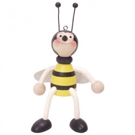 Drevená figúrka na pružinke - Včielka chlapček