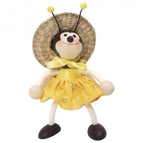 Drevená figúrka na pružinke - Včielka dievčatko