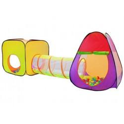 ISO Trade 2880 Detský stan na hranie s tunelom + 200 loptičiek