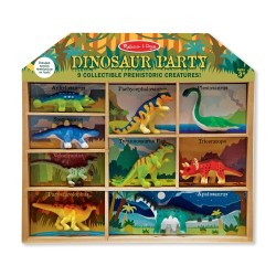 Melissa & Doug 9-dielna sada dinosaurov v drevenom boxe