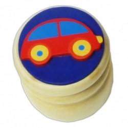 Drevená krabička na uschovanie mliečnych zúbkov - autíčko