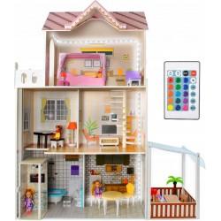 ISO Trade 9152 Domček pre bábiky LED s príslušenstvom XXL