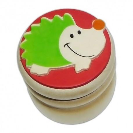 Drevená krabička na uschovanie mliečnych zúbkov - ježko