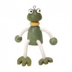 Drevená figúrka na pružinke - Žabka chlapček