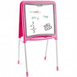 SMOBY Detská obojstranná tabuľa - ružová