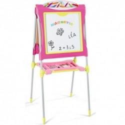 SMOBY Obojstranná detská tabuľa Grande - ružová
