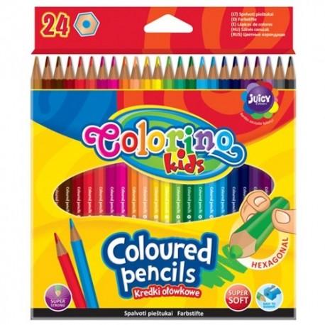 Colorino Kids farebné ceruzky 24 ks