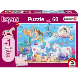 Schleich 56302 Schmidt Puzzle 60 ks-ové Bayala Kúzlo morskej panny + 1 Schleich figúrka