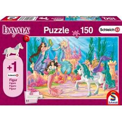 Schleich 56303 Schmidt Puzzle 150 ks-ové Bayala Zámok v Meamare + 1 Schleich figúrka