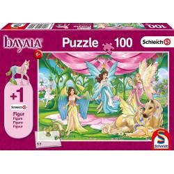 Schleich 56301 Schmidt Puzzle 100 ks-ové Bayala Sála v zámku + 1 Schleich figúrka