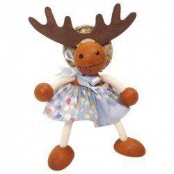 Drevená figúrka na pružinke - Jeleň dievčatko