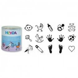 HEYDA Detské pečiatky - 15 kusové - Baby