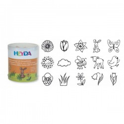 HEYDA Detské pečiatky - 15 kusové - Jar