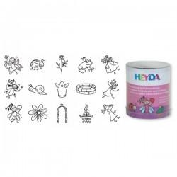 HEYDA Detské pečiatky - 15 kusové - Víly