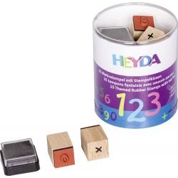 HEYDA Detské pečiatky - 15 kusové - Číslice