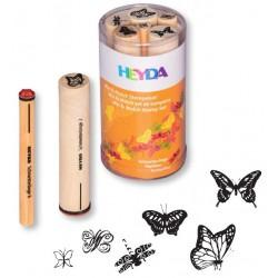 HEYDA Detské pečiatky - 6 kusové - Motýle