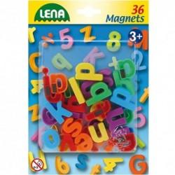 LENA Farebné magnetické písmenká - malé