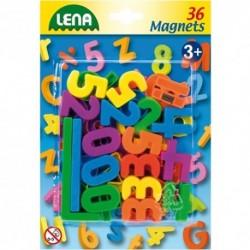 LENA Farebné magnetické číslice