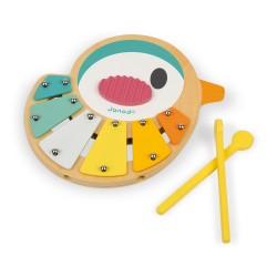 JANOD detský xylofón Vtáčik