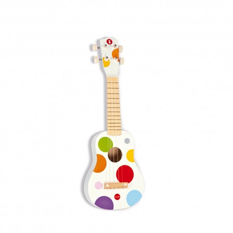 JANOD Drevené ukulele Confetti s reálnym zvukom