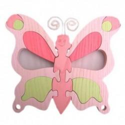 Detské nástenné svietidlo - motýľ ružový
