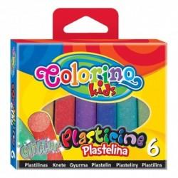 Colorino Kids farebná plastelína 6 farieb Glitter