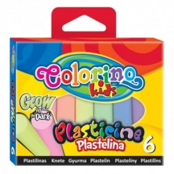 Colorino Kids farebná plastelína 6 farieb Glow