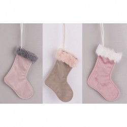 Vianočné ozdoby z plyšu - čižmy 3 kusy