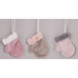 Vianočné ozdoby z plyšu - rukavice 3 kusy