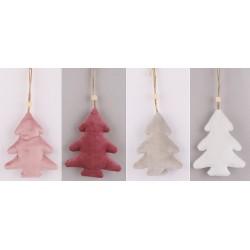 Vianočné ozdoby z plyšu - vianočné stromčeky 4 kusy